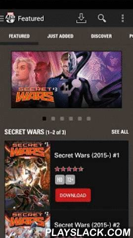 Marvel Comics  Android App - playslack.com ,  Introducing the MARVEL COMICS app on Android, featuring the world's most popular super heroes! Download hundreds of comic books featuring your favorite characters -— including Iron Man, Thor, Captain America, Spider-Man, Wolverine and more -- on your mobile device or tablet with the touch of a button. You'll experience Marvel's greatest series and stories like never before, with your choice of guided view (an animated, panel-by-panel path through…