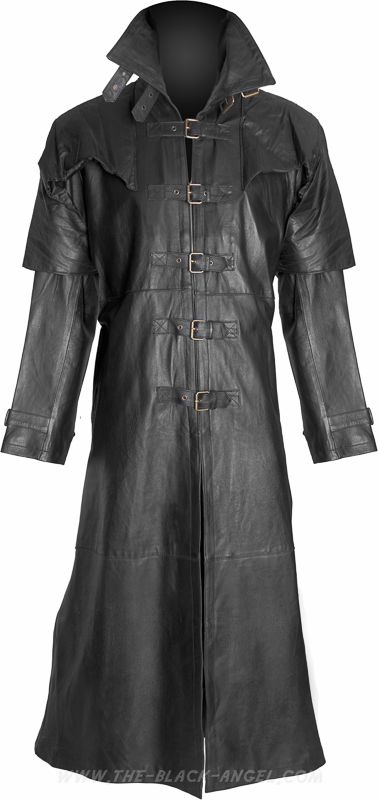 Gothic duster coat made from genuine leather, inspired by the famous vampire hunter Van Helsing.