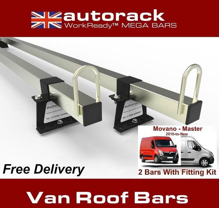 Van Roof Rack 2 Bars VAUXHALL MOVANO 2010-onward current van - Autorack MegaBars #AUTORACKROOFRACKS