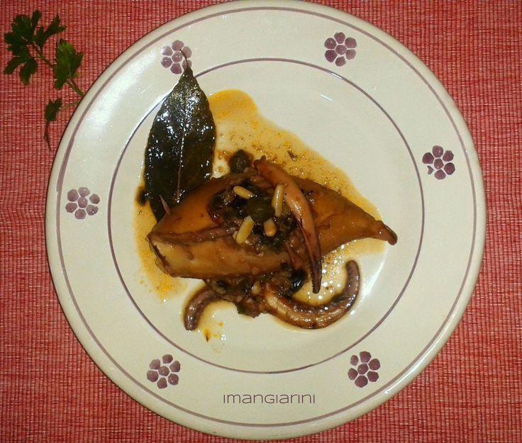 I Mangiarini  Calamari ripieni con capperi e pinoli