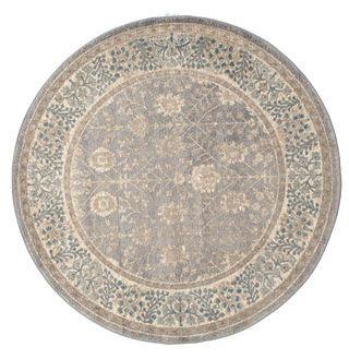 Shalini - Purper/Grijs tapijt  Ø150