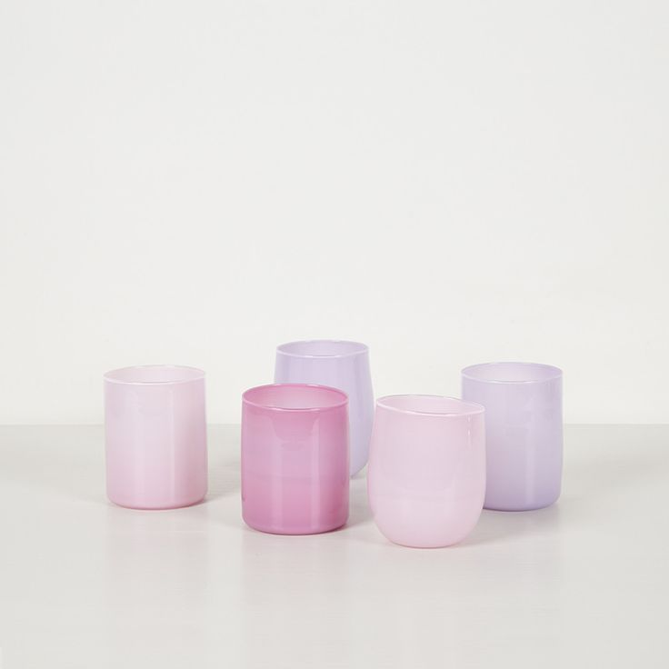 Pink Drinking Glasses - Monmouth Glass Studio