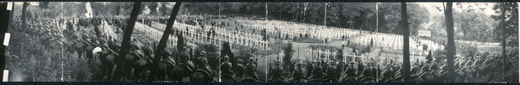 A Memorial Day ceremony from the American Cemetery at Suresnes, France in May 30, 1920.