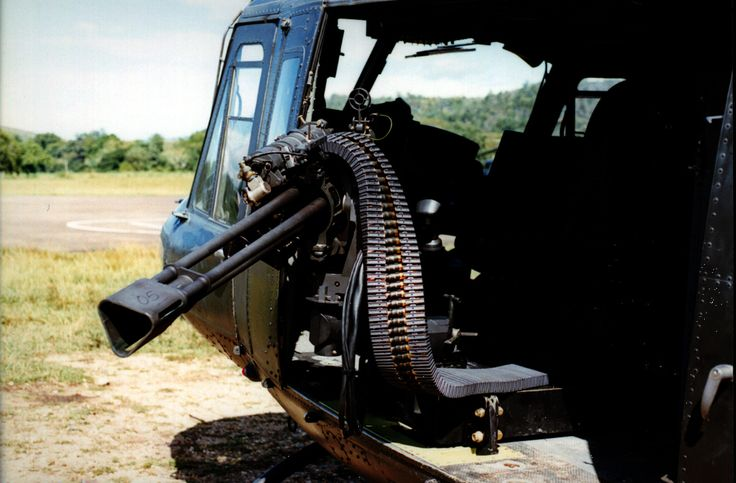 The GAU-19/A .50 caliber (12.7-mm) Gatling-type machine gun, that can be fitted with either three or six barrels. Generally three barrels.
