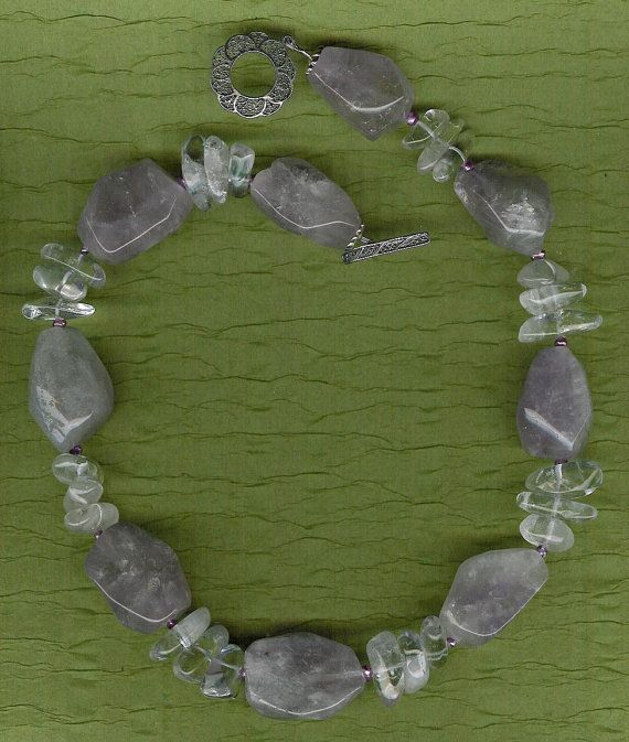 Lavender Ice  Amethyst Rock Quartz Freshwater by ChicStatements, $55.00