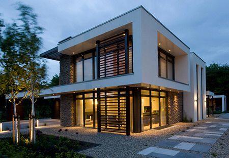 Moderne villa architectuur