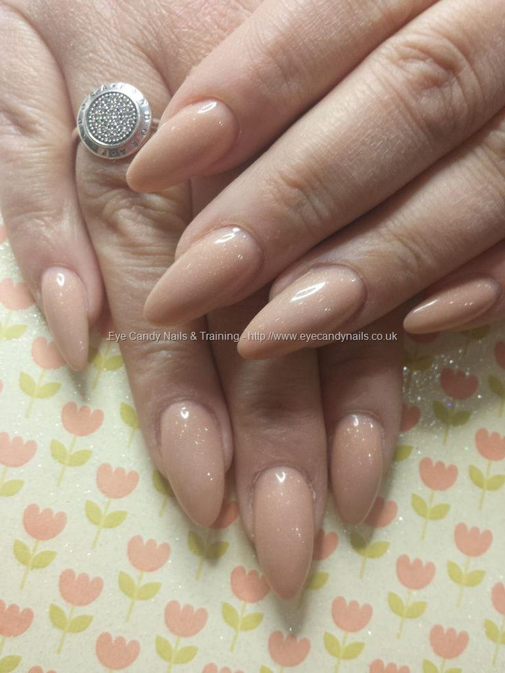 Eye Candy Nails #NailArt Photo Taken in salon at:18/04/2015 14:55:15 Nail Art Photo Uploaded at:18/04/2015 19:49:10Nail Technician:Elaine Moore  Description: nude almond shaped acrylic nails Please visit Eye Candy Nails Gallery to see more.