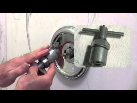 Shower faucet cartridge removal and install for a single