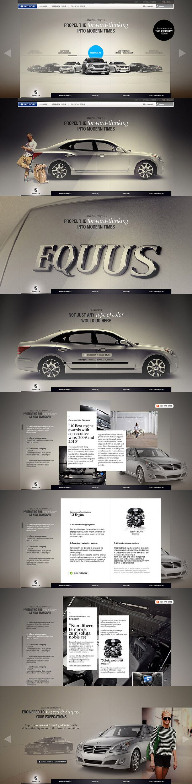 Cool Automotive Web Design on the Internet. Hyundai. #automotive #webdesign @ http://www.pinterest.com/alfredchong/automotive-web-design/