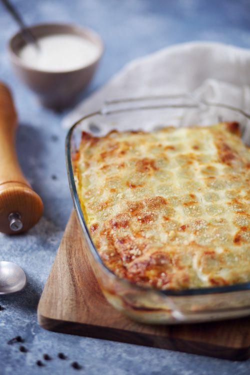 Gratin de ravioles au poireau et saumon fumé | chefNini