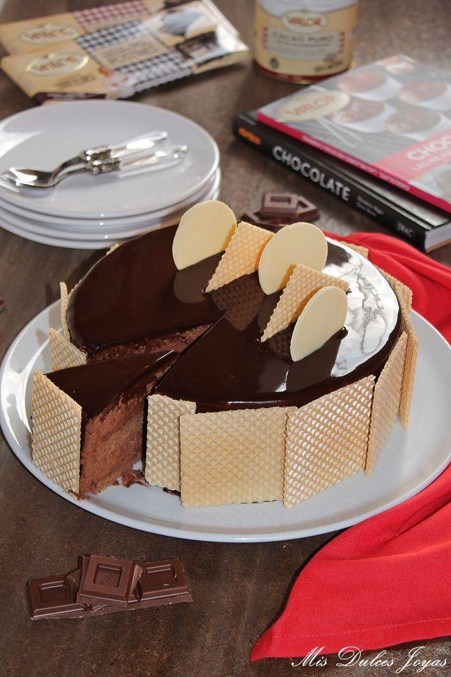 Tarta mousse de chocolate al 70% - Mis Dulces Joyas