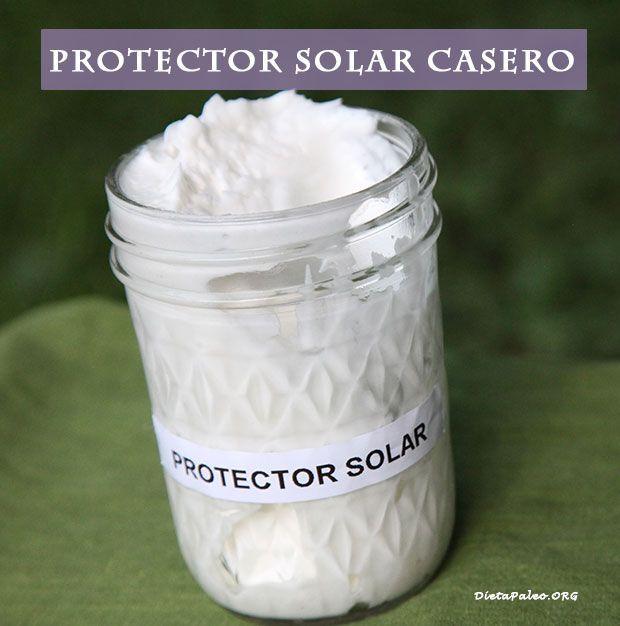 Protector solar casero y natural - Dieta Paleo