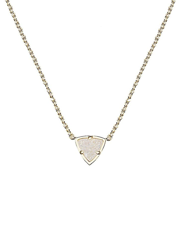 Perry Gold Pendant Necklace in Iridescent Drusy - Kendra Scott Jewelry