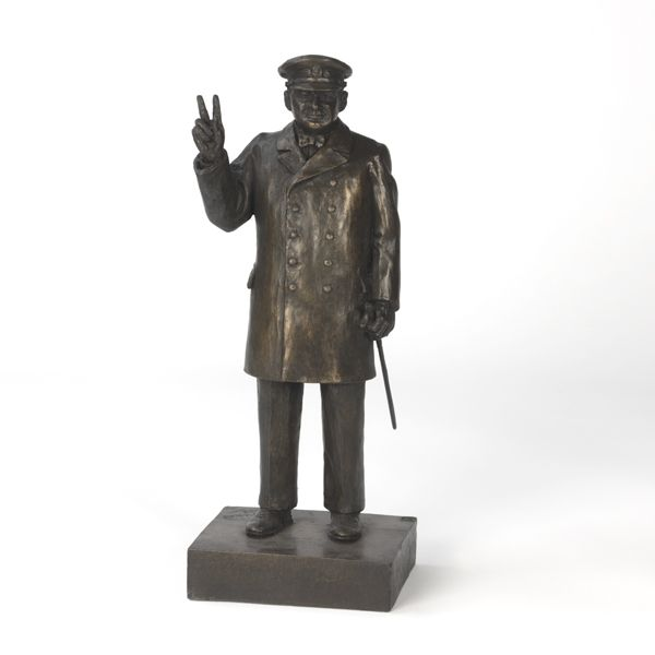 The figure is produced in cold cast resin bronze, a modern technique approximating the look and feel of real bronze but at a much more modest price.
