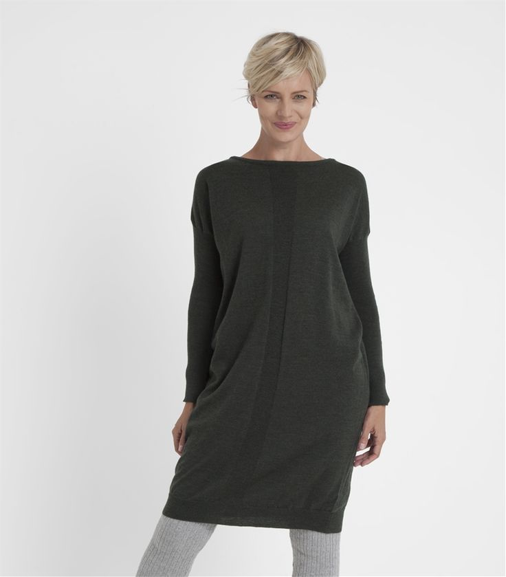 Womens 100% Merino Jumper Dress