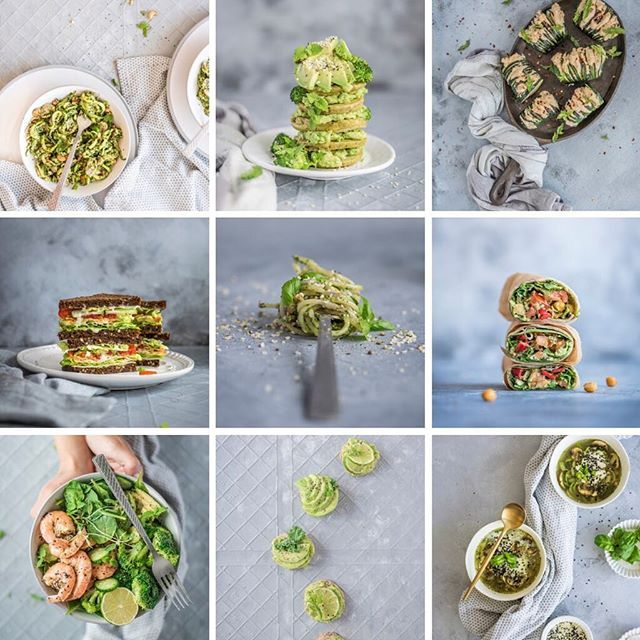 Green Food Photography Grid For Portfolio Healthy Food Photography Healthy Food Styling By Rustic Food Photography Food Photography Healthy Food Photography