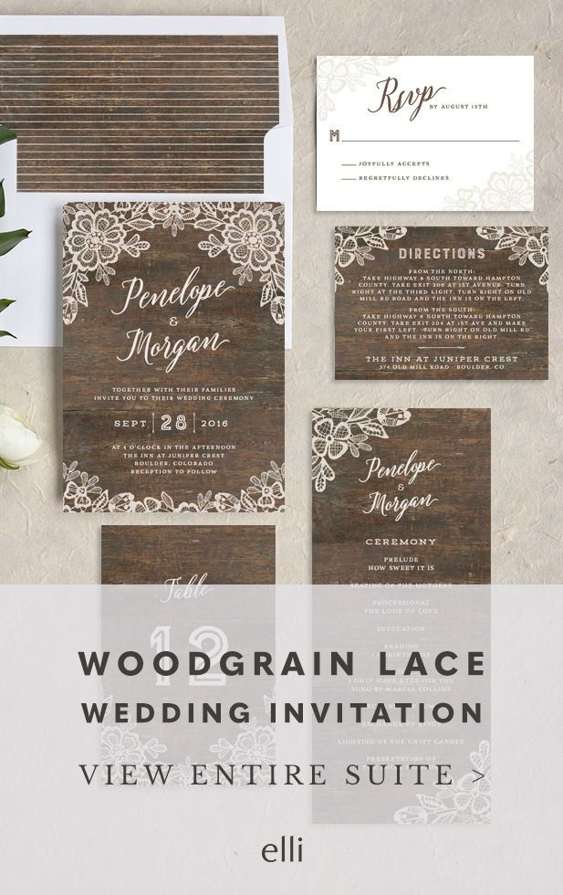 The Most Beautiful Rustic Wedding Invitation Gorgeous Woodgrain Lace W Wedding Invitations Rustic Lace Wedding Invitations Unique Rustic Wedding Invitations