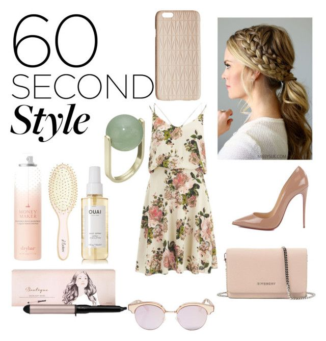 """""""Untitled #64"""" by jana40299 ❤ liked on Polyvore featuring beauty, VILA, Christian Louboutin, Givenchy, French Connection, BaByliss, Drybar, L. Erickson, Ouai and Le Specs"""