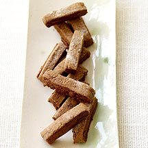 Chocolate Cookie Sticks ~ Add 1/2 teaspoon of cinnamon or 1/4 teaspoon of cayenne pepper for a kick. (3 Points Plus)