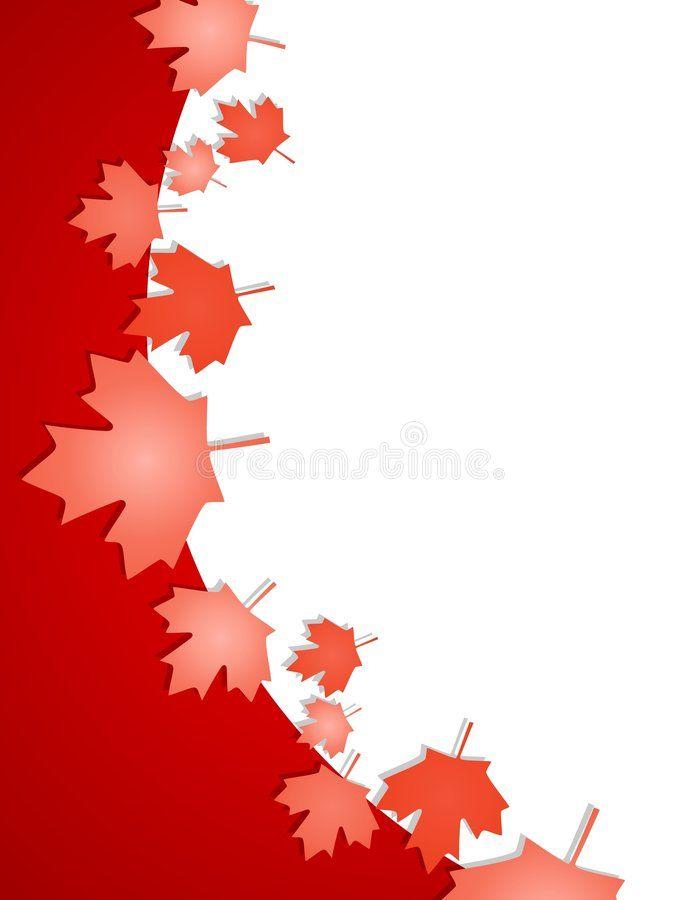 Canada Day Maple Leaf Border An Illustration Featuring A Curved Border Decorate Aff Leaf Border Illustration Canada Day Ad