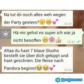 Lustige WhatsApp Bilder und Chat Fails 153 - Besoffen - Pandora