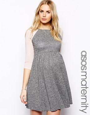 Image 1 ofASOS Maternity Skater Dress With Raglan Sleeve