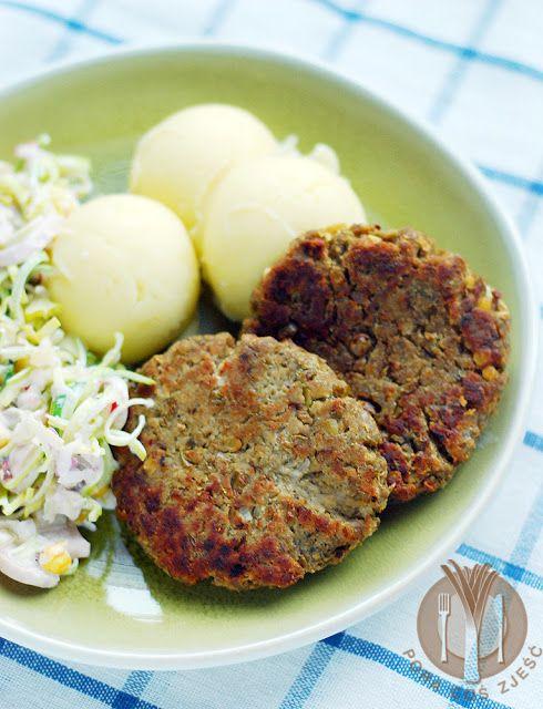Burgery z mięsem mielonym i zieloną soczewicą