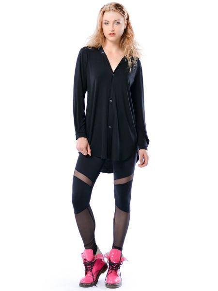 Linda Hypnotic Black - czarna koszula