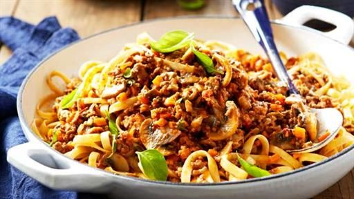 Fettuccine with Mushroom Bolognese | Recipes to try | Pinterest