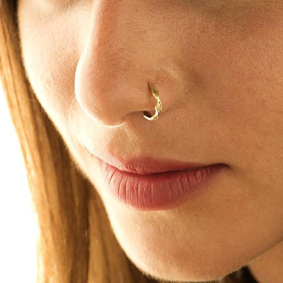 Nose Ring, Unique Nose Ring, Nose Piercing, 14K Gold OR 925 Sterling Silver Bohemian Nose Ring, Gold Nostril Stud, fits Cartilage, Tragus, Helix, 16g-22g Unique feminine nose ring for the stylish individual. Intended to highlight pretty features in your appearance or to add a cool edge to your style  This nose ring is easy and comfortable to wear. Though beautiful, it adds a subtle twinkle of light to any simple everyday outfit. The fact that it is understated, makes it work for anyone…