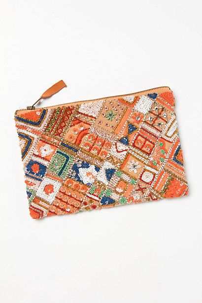 patchwork sequined clutch