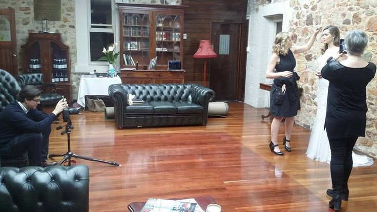 Our designer Liz taking close up photos on location at our photo shoot 2015 -- Mount Lofty House // Nicholas Purcell Studio