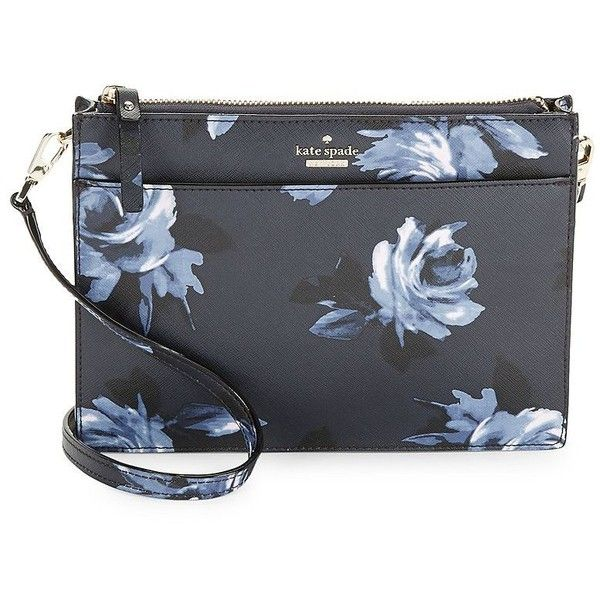 Kate Spade New York Floral Shoulder Bag ($139) ❤ liked on Polyvore featuring bags, handbags, shoulder bags, rich navy, kate spade shoulder bag, floral handbags, shoulder bag handbag, floral purse and kate spade handbags