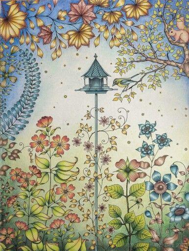 Secret Garden Johanna Basford GardenDoodle ArtColoring BooksAdult