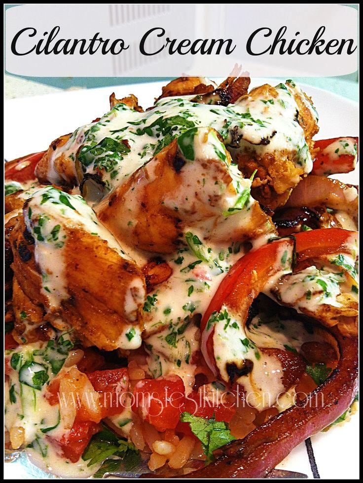Cream Chicken: Red Bell Pepper, Sour Cream, Chicken Recipes, Chicken ...