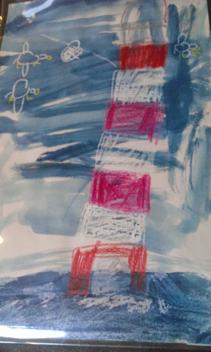 Primaryart123: Lighthouse Keeper's Lunch Resist with water colours and wax crayons for primary school art class lessons