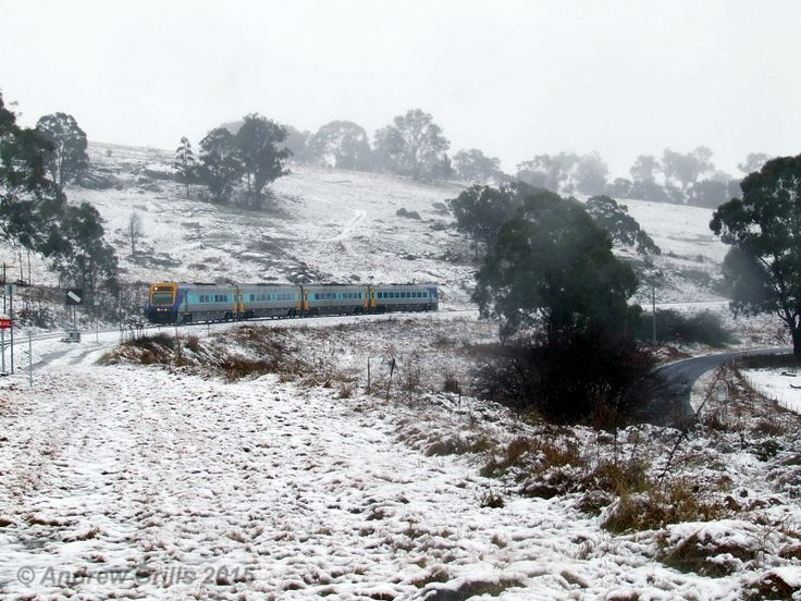 Snow at Walcha Road on the Great Northern Railway on 13th July 2015. Photo by Andrew Grills from:  https://www.facebook.com/savethenorthernrailline