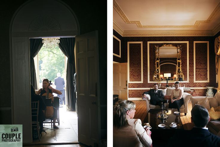 Guests are serenaded while they have a drink. Weddings at Tankardstown House by Couple  Photography.