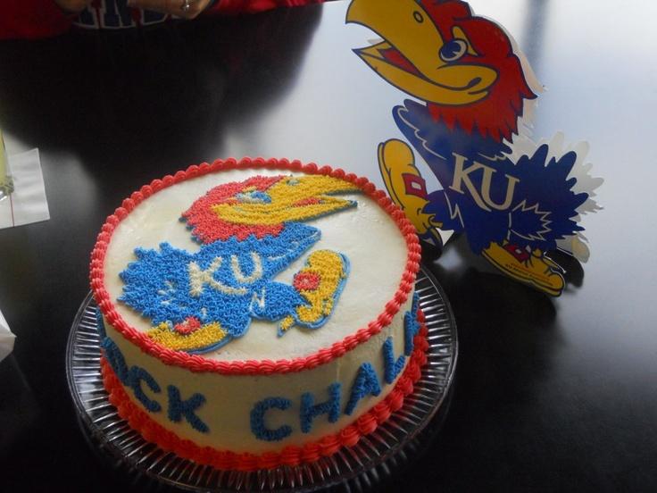 ku cake  i want this for my graduation cake