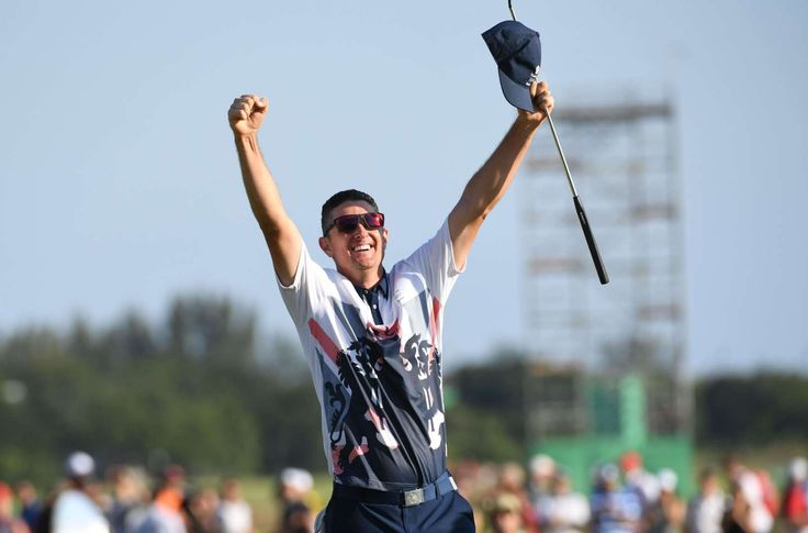 Aug. 14: Golf returned to the Olympics after a 112-year absence. Justin Rose of Great Britain sank the first hole-in-one in Olympic history in the first round, then closed with an easy birdie on the final hole to secure the gold medal.      -  One great photo from each day at the Rio Olympics