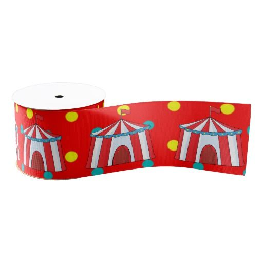 Kids Circus Party Personalized Grosgrain Ribbon