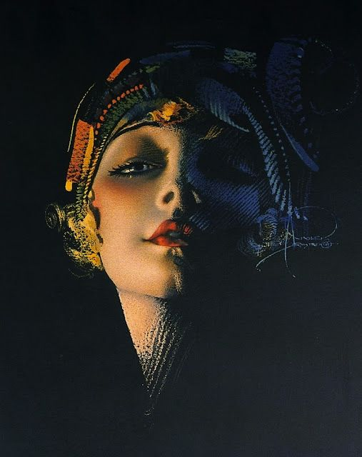 By Rolf Armstrong (1889-1960). http://thecatsandtheberries.blogspot.co.uk/2011/09/artist-feature-rolf-armstrong.html