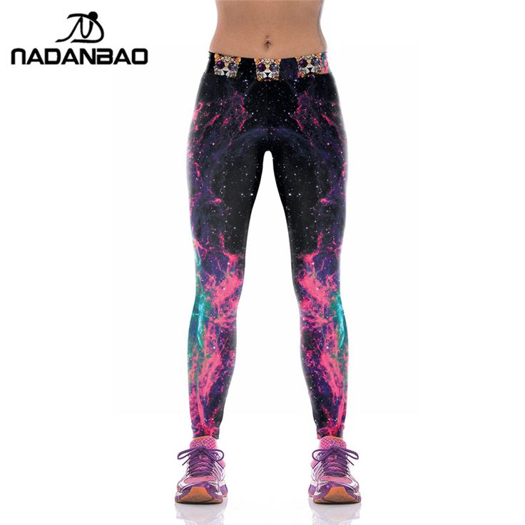 Leggings Fashion Galaxy Printed Pants For Women Compression Trouser High Elastic Pantalones Mujer Pants