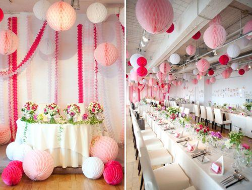 honeycomb paper balls  Dekorella Shop http://dekorellashop.hu/ #méhsejtgömb #honeycombball #papírdekoráció
