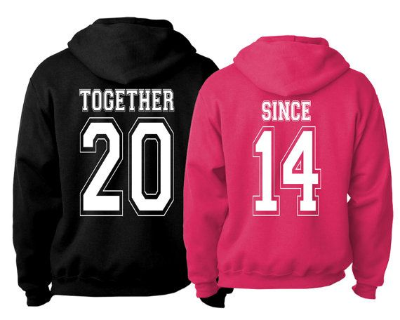 TOGETHER SINCE  Hoodie combo pack girlfriend boyfriend husband wife loves his hers aye he's mine she's mine