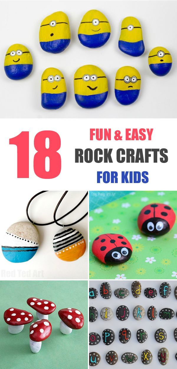 DIY Craft: 18 Fun and Easy Rock Crafts for Kids