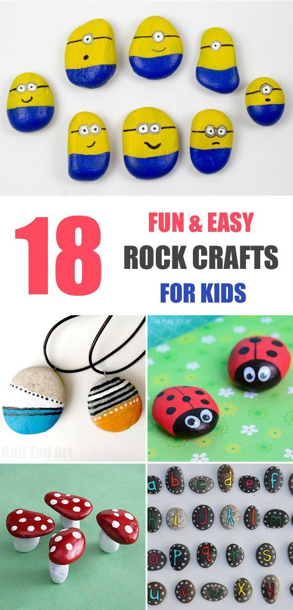 DIY Craft: 18 Fun & Easy Rock Crafts for Kids 1