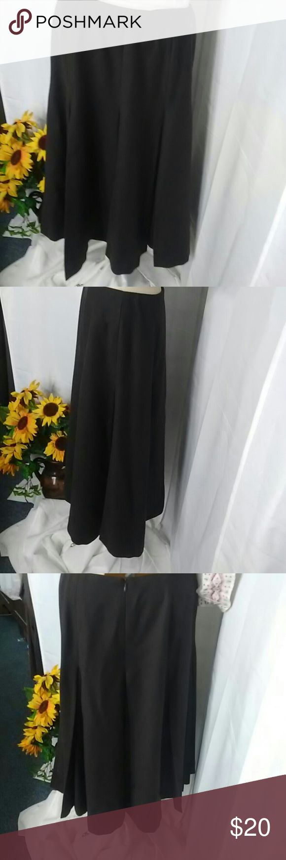 Talbot brown winter skirt Beautiful pleating starts at hip. Rich Chocolate brown color. Size 4. Talbots Skirts Midi