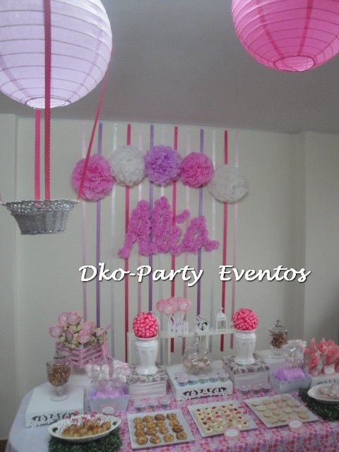Party de baby shower de nena imagui for Decoracion baby shower nina