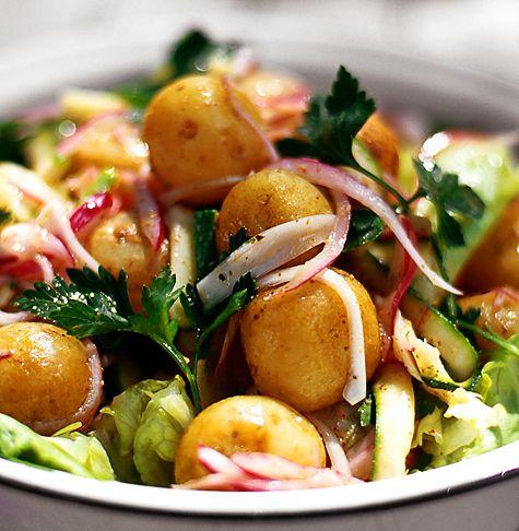 Potatissallad med koriander | Recept.nu
